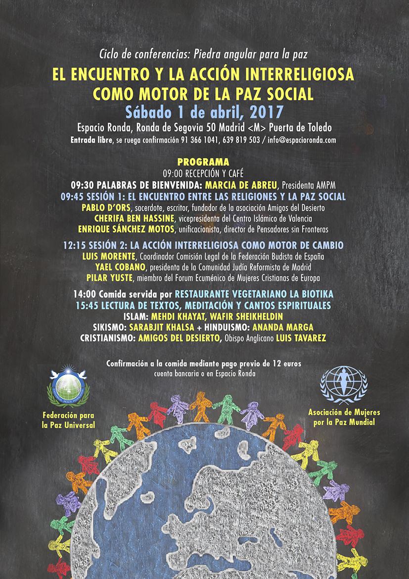 Invitación 5ª Sesión Ciclo de Conferencias: Piedra Angular para la Paz