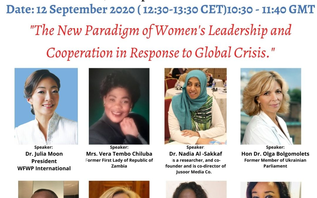 IAFLP: Towards a new paradigm in women's leadership and cooperation in times of global crisis