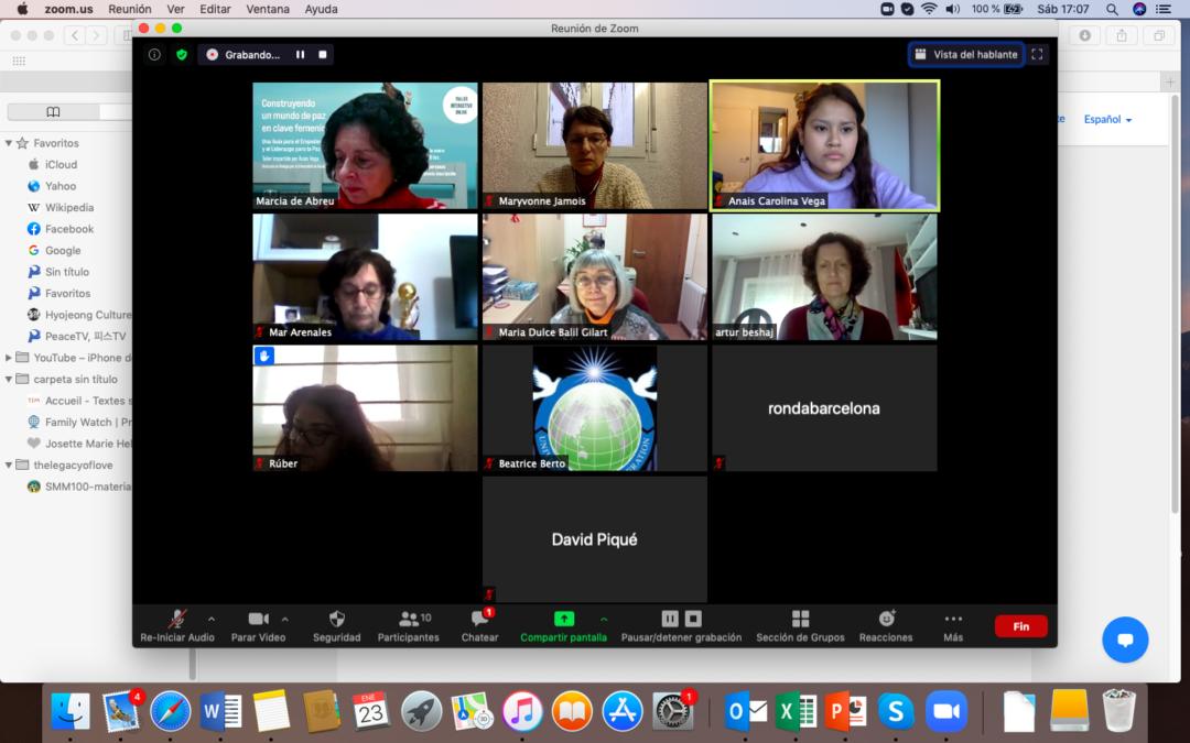 Taller: Creando un mundo de paz en clave femenina: guía para un liderazgo de paz